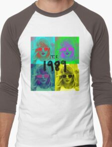 1989 taylor swift pop art Men's Baseball ¾ T-Shirt