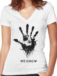 Dark Brotherhood Women's Fitted V-Neck T-Shirt