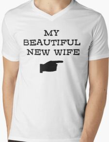 my beautiful new wife Mens V-Neck T-Shirt