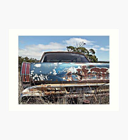 Old Blue Rust Art Print