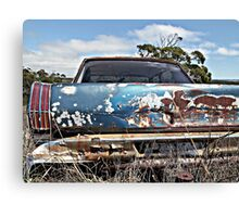Old Blue Rust Canvas Print