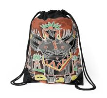i go with crow Drawstring Bag