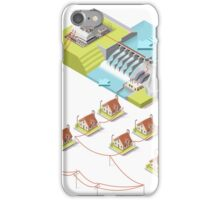 Energy Hydroelectric Power Isometric iPhone Case/Skin