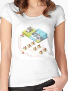 Energy Hydroelectric Power Isometric Women's Fitted Scoop T-Shirt