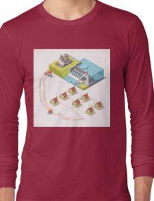 Energy Hydroelectric Power Isometric Long Sleeve T-Shirt