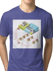 Energy Hydroelectric Power Isometric Tri-blend T-Shirt
