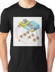 Energy Hydroelectric Power Isometric Unisex T-Shirt