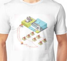 Energy Hydroelectric Power Isometric Unisex T-Shirt