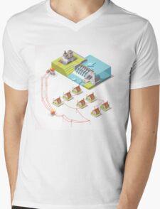 Energy Hydroelectric Power Isometric Mens V-Neck T-Shirt