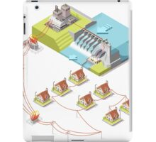 Energy Hydroelectric Power Isometric iPad Case/Skin