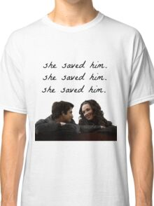 teen wolf - she saved him Classic T-Shirt