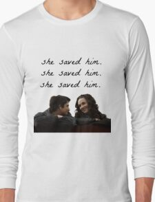 teen wolf - she saved him Long Sleeve T-Shirt