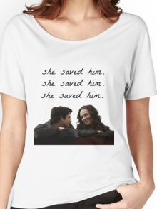 teen wolf - she saved him Women's Relaxed Fit T-Shirt