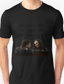 teen wolf - she saved him Unisex T-Shirt