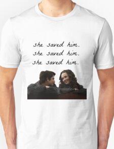 teen wolf - she saved him Unisex T-Shirt
