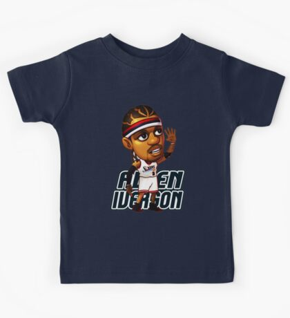Allen Iverson Cartoon Kids Tee