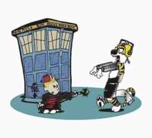 Calvin and Hobbes Doctor Who Kids Tee