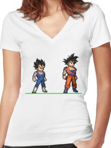 Dragon Ball Z Women's Fitted V-Neck T-Shirt