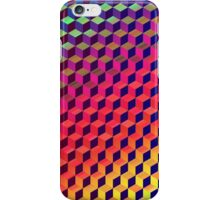 Multi color Isometric Cube Pattern  iPhone Case/Skin