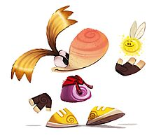 Rayman Cartoon Photographic Print