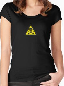Skull Danger Zone logo original sticker Women's Fitted Scoop T-Shirt