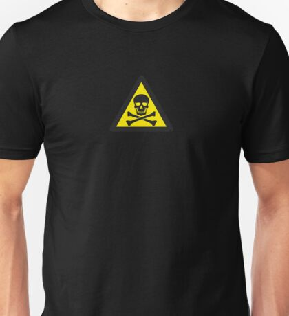Skull Danger Zone logo original sticker Unisex T-Shirt