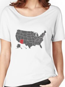 Map of USA ARIZONA state Women's Relaxed Fit T-Shirt