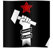 Raised Fist of Protest - Working Class Poster