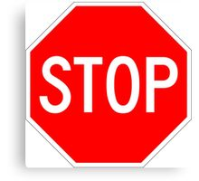 STOP original sign sticker Canvas Print