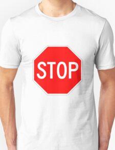 STOP original sign sticker Unisex T-Shirt