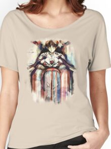 Shinji Evangelion Anime Tra Digital Painting  Women's Relaxed Fit T-Shirt