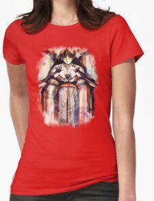 Shinji Evangelion Anime Tra Digital Painting  Womens Fitted T-Shirt