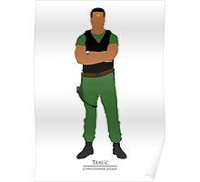Stargate SG1 - Minimalist Teal'c Poster