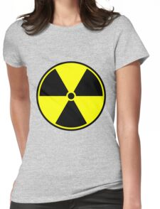 Radioactive sign sticker Womens Fitted T-Shirt