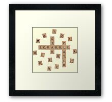 Star Scrabble Player Framed Print