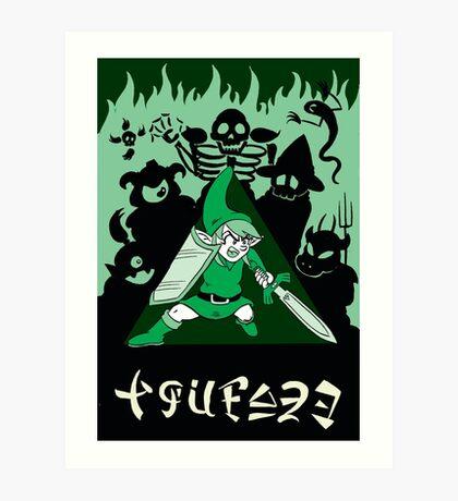 Zelda Link to the Past Link's Courage Art Print
