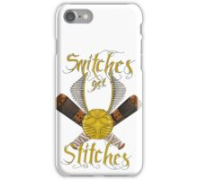 Snitches get stitches iPhone Case/Skin