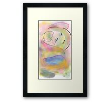 Girl in the sky - Soft Painting 012 Framed Print