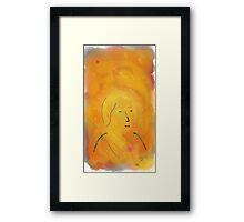 Girl - Soft Painting 013 Framed Print