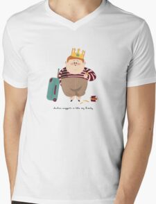 Chicken Nuggets Is Like My Family Mens V-Neck T-Shirt