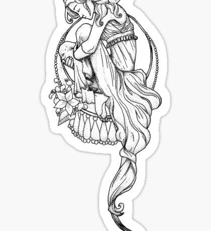 Mucha Girl Sticker