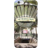 Abbesses Metro iPhone Case/Skin