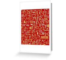 "Car repair tool, design for petrolheads ""red"" Greeting Card"