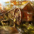 Mill - Cornelia, GA - Grandpa's grist mill 1936 by Mike  Savad