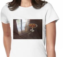 Still Life - Gleaming Wood Veneer and Elegant Crystal Womens Fitted T-Shirt
