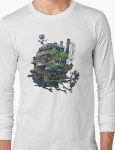 Howl's moving castle 8-bit <3 Long Sleeve T-Shirt