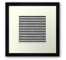 Zebra Fur Pattern Framed Print