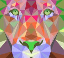 Colourful Polygonal Lion Sticker