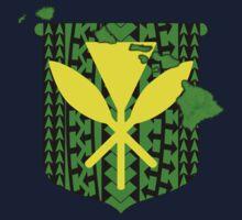 Hawaiian Tribal Coat Of Arms Kids Tee