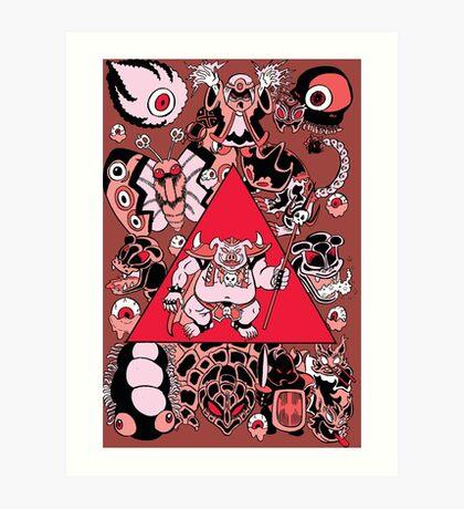 Zelda Link to the Past Ganon's Power Art Print